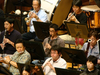 木管楽器とトランペット
