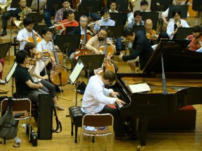 ピアノ協奏曲1番の練習風景