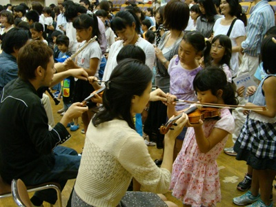 ヴァイオリンの弾き方指導