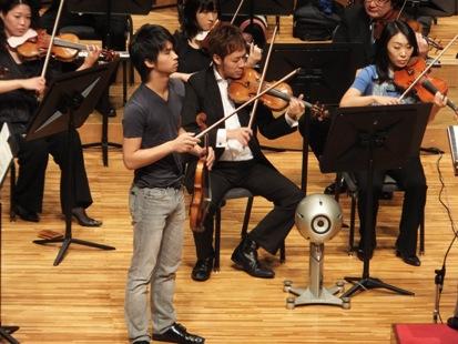 ヴァイオリンは三浦さん