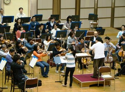 ヴァイオリン協奏曲練習風景