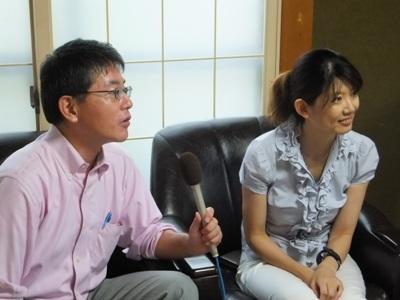 NHKアナウンサーによるインタビュー