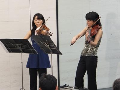 ヴァイオリンとヴィオラのデュオ