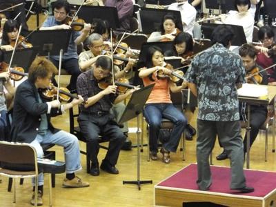 ヴァイオリン最前列