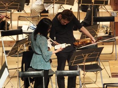 2ndヴァイオリンのトップ二人