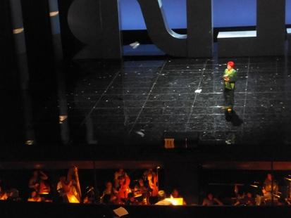 2階席から見たステージの様子