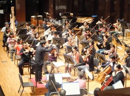 ヴァイオリン演奏風景