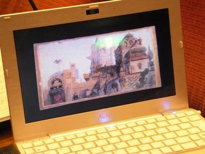 パソコン上の画像がスクリーンへ