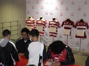 日本代表選手サイン会