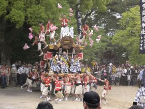 弓弦羽神社宮入2