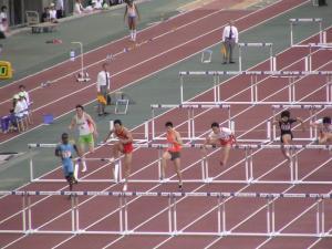 男子110mハードル決勝戦の模様
