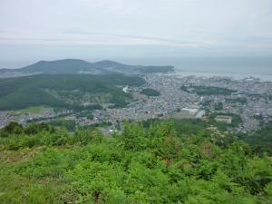 小樽天狗山から見た石狩湾