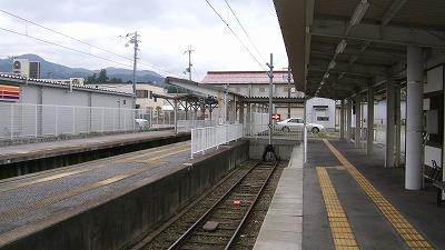 多賀大社前駅ホーム終点