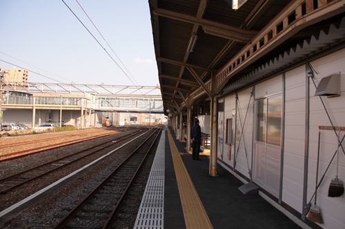 樽見鉄道大垣駅ホーム根尾方面