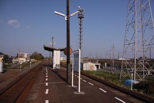 東大垣駅ホーム根尾方面
