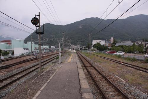 坂城駅ホーム篠ノ井方面