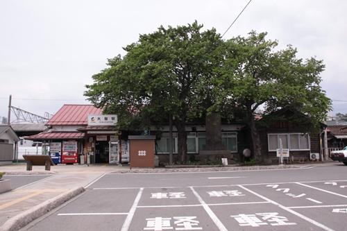 大屋駅駅舎全景