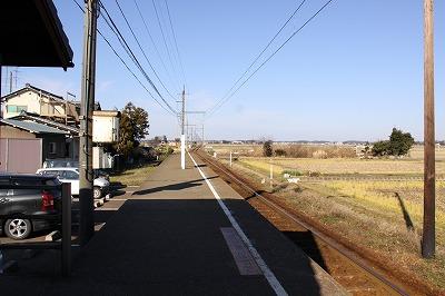 下兵庫駅ホーム三国方面