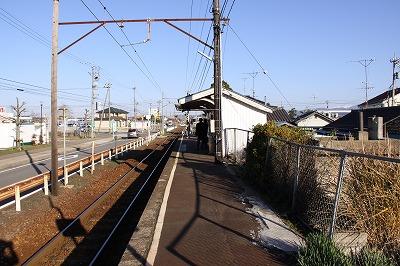 三国神社駅ホーム福井方面