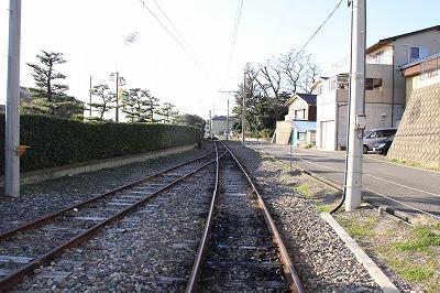 三国港駅終端