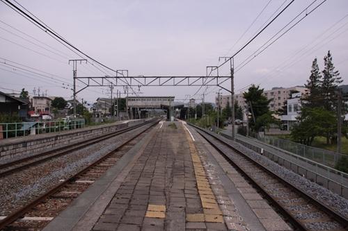 田中駅2番線・3番線ホーム軽井沢方面
