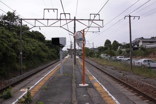滋野駅ホーム篠ノ井方面