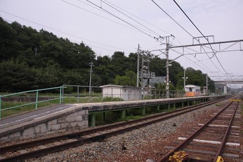 平原駅1番線ホーム全景