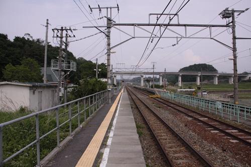 平原駅1番線ホーム軽井沢方面