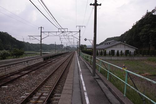 平原駅1番線ホーム篠ノ井方面