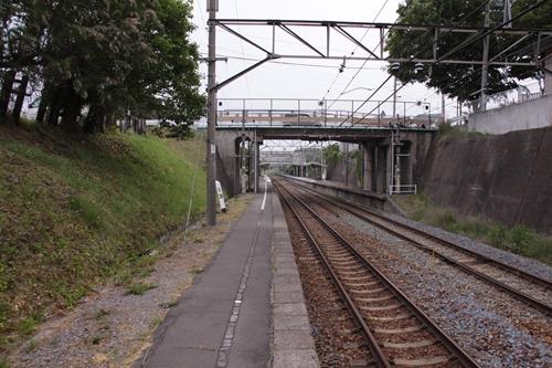 御代田駅1番線ホーム篠ノ井方面