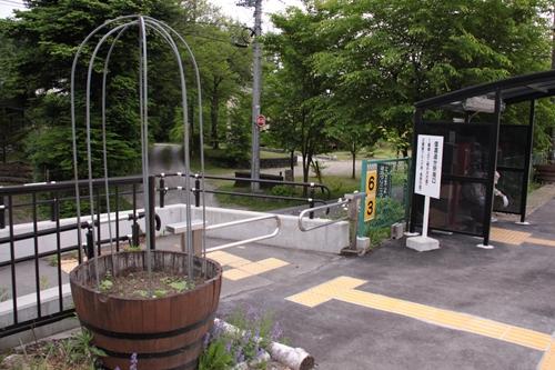 信濃追分駅2番線ホーム出入口