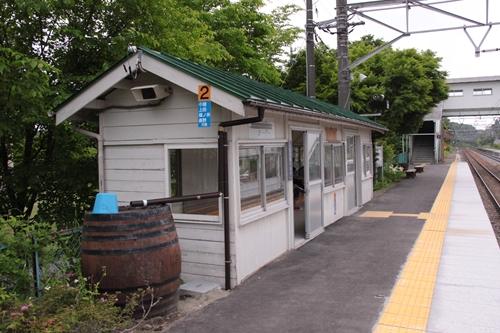 信濃追分駅2番線ホーム待合所