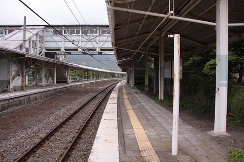 中軽井沢駅2番線ホーム軽井沢方面