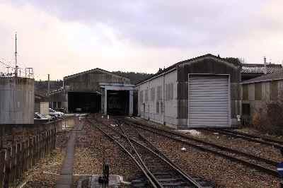 明智駅車庫