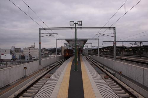 福知山駅ホーム福知山方面