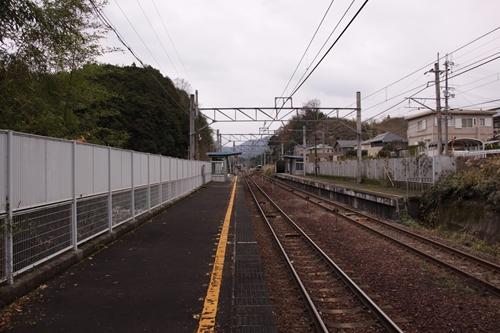 荒河かしの木台駅福知山方面乗り場ホーム福知山方面