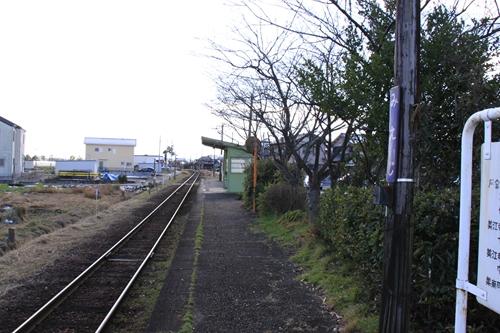 樽見鉄道美江寺駅ホーム大垣方面