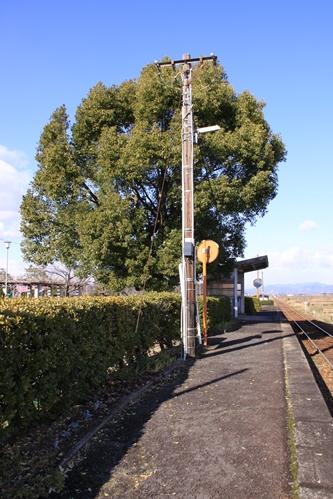 樽見鉄道十九条駅ホーム根尾方面