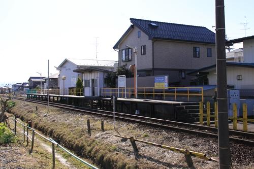 樽見鉄道横屋駅ホーム全景