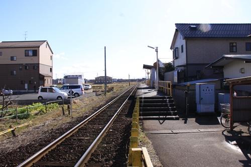 樽見鉄道横屋駅ホーム大垣方面