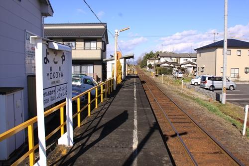 樽見鉄道横屋駅ホーム根尾方面