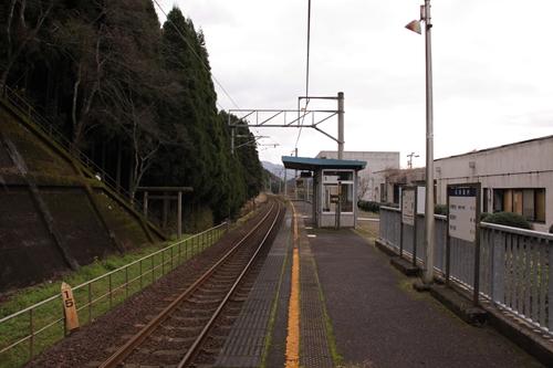 二俣駅ホーム福知山方面