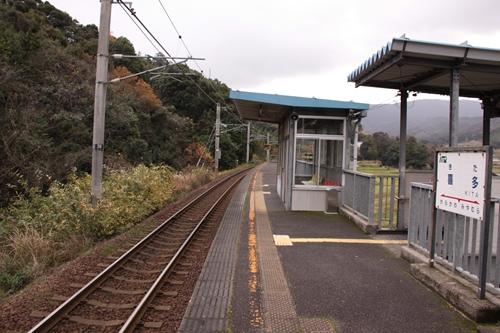 喜多駅ホーム福知山方面
