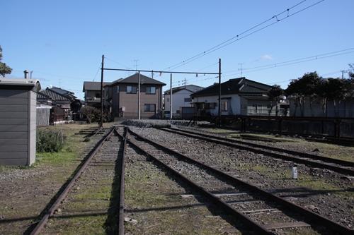 岳南江尾駅終点