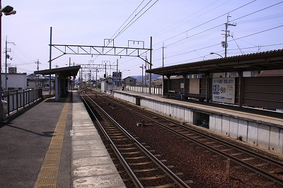 市辺駅近江八幡ホーム近江八幡方面
