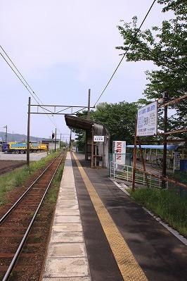 長谷野駅ホーム八日市方面