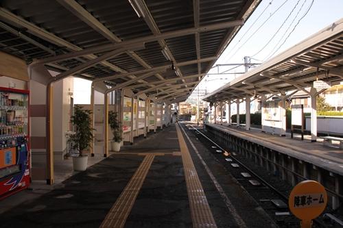新清水駅1番線ホーム新静岡方面