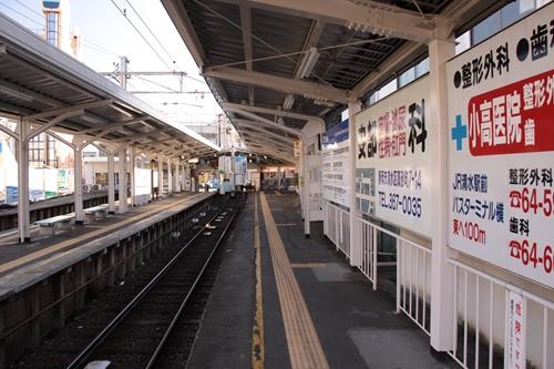 新清水駅1番線ホーム新清水方面