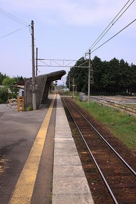 朝日大塚駅ホーム八日市方面
