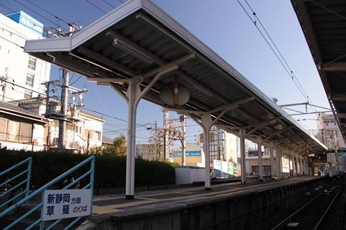 新清水駅1番線・2番線ホーム全景